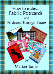 And eBook number 3 - How to Make Fabric Postcards & Postcard Storage Boxes
