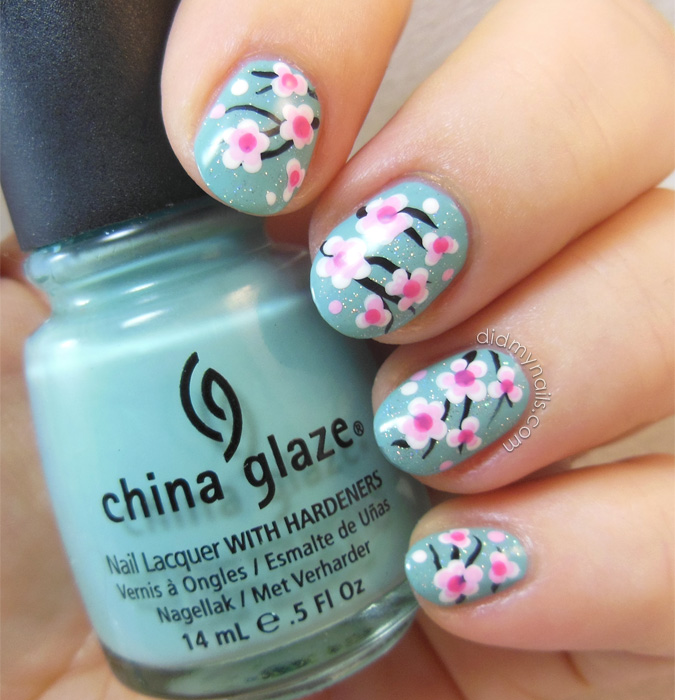 Did My Nails Even More Cherry Blossom Nail Art