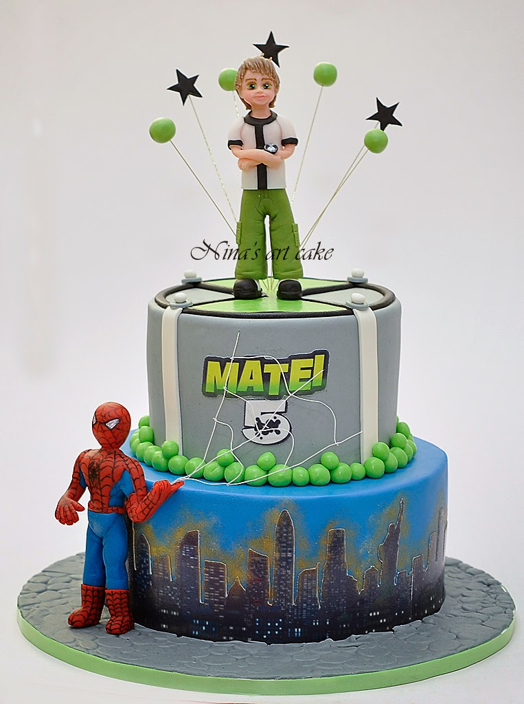 "Tort "" Ben 10 si Spiderman"" pentru Matei"