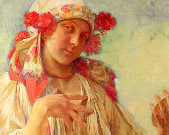 Alphonso Mucha Art Painting Wallpapers 10