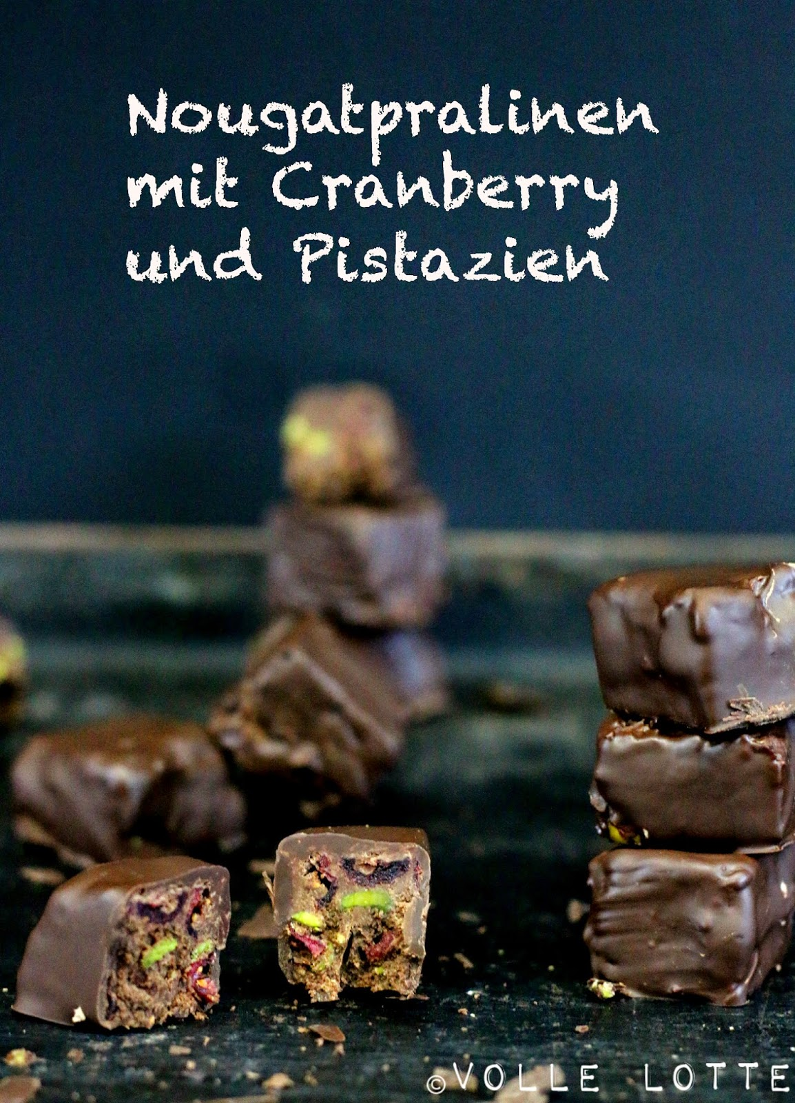 Cranberry, Pistazien, Schokolade