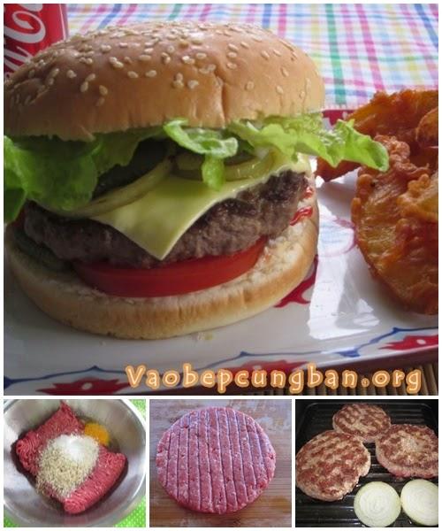 Cách làm bánh Hamburger Bò 1
