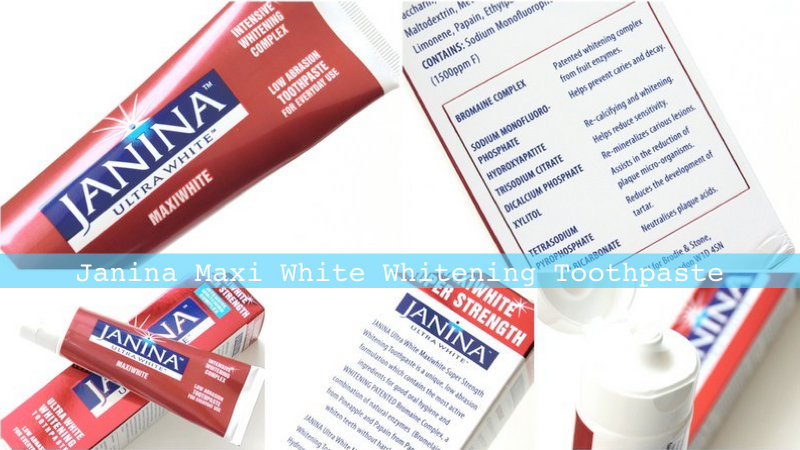 Review: Janina Ultra-White Toothpaste