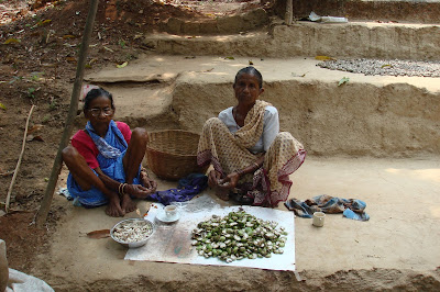 Harnai Women shelling cashews