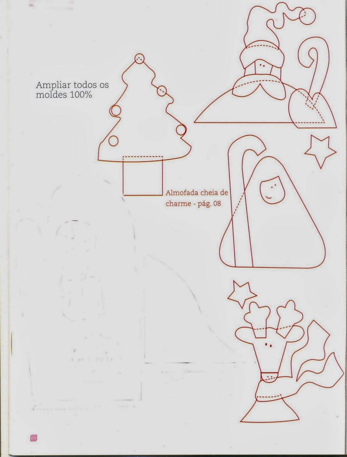 Almofada natalina passo a passo e moldes