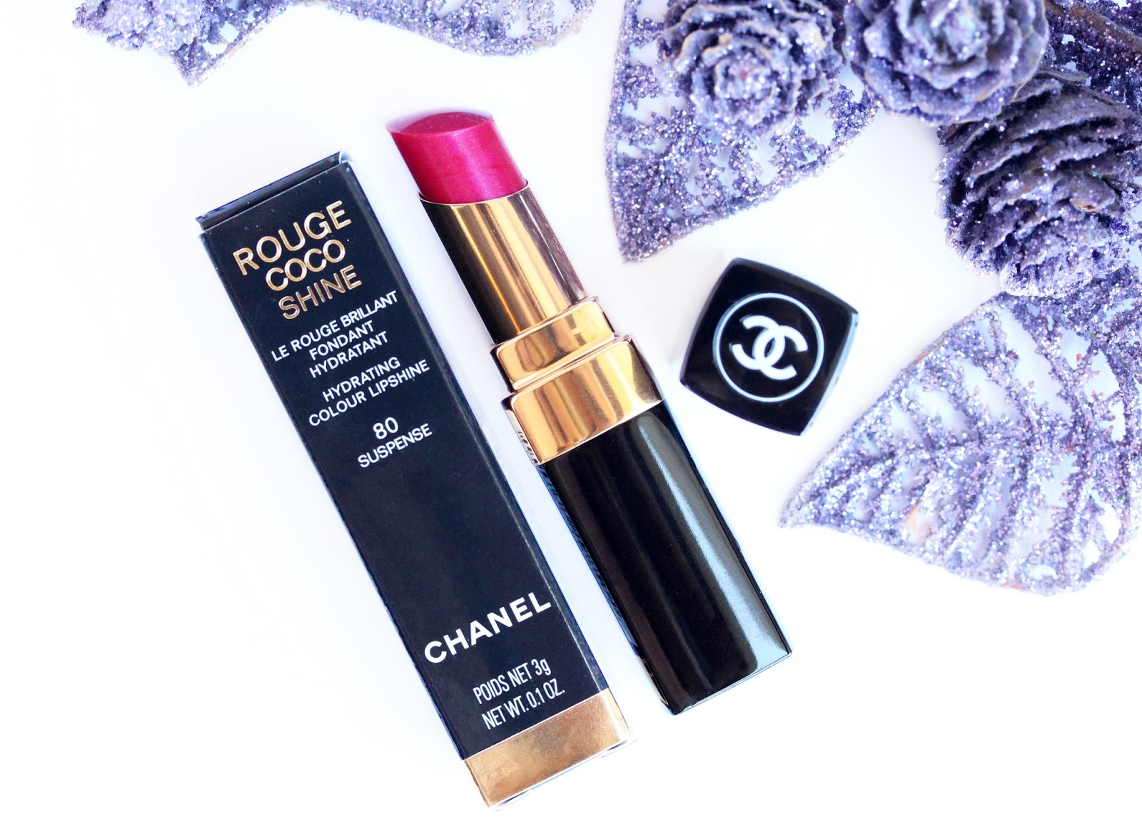 Chanel Rouge Coco Shine lipstick in 80 Suspense