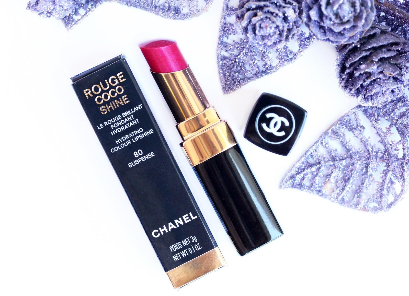 Chanel Rouge Coco Shine lipstick in 80 Suspense