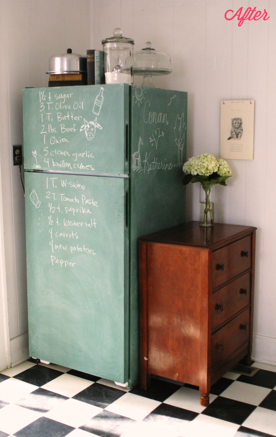 Can You Paint A Fridge With Chalk Paint