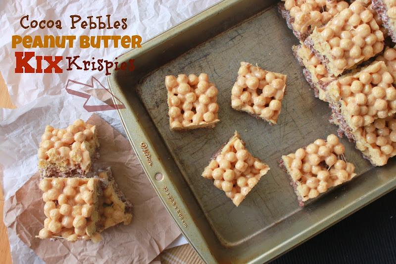 Annie's City Kitchen: Cocoa Pebbles Peanut Butter Kix Krispies