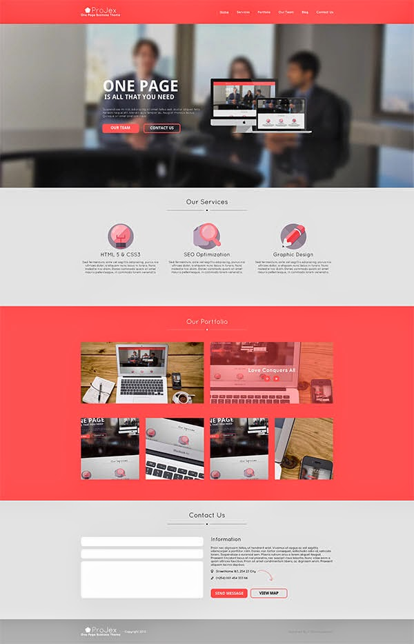 Projex Website PSD Template