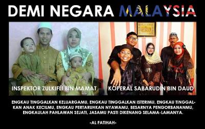 Lahad Datu :Jenazah Dua Perwira Negara Selamat di Subang