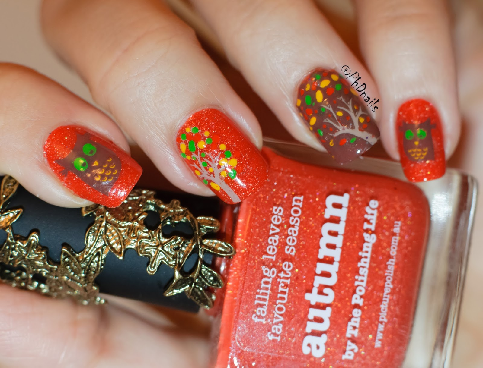 PhD nails: Picture polish Autumn and stamping nail design with MM 19 ...
