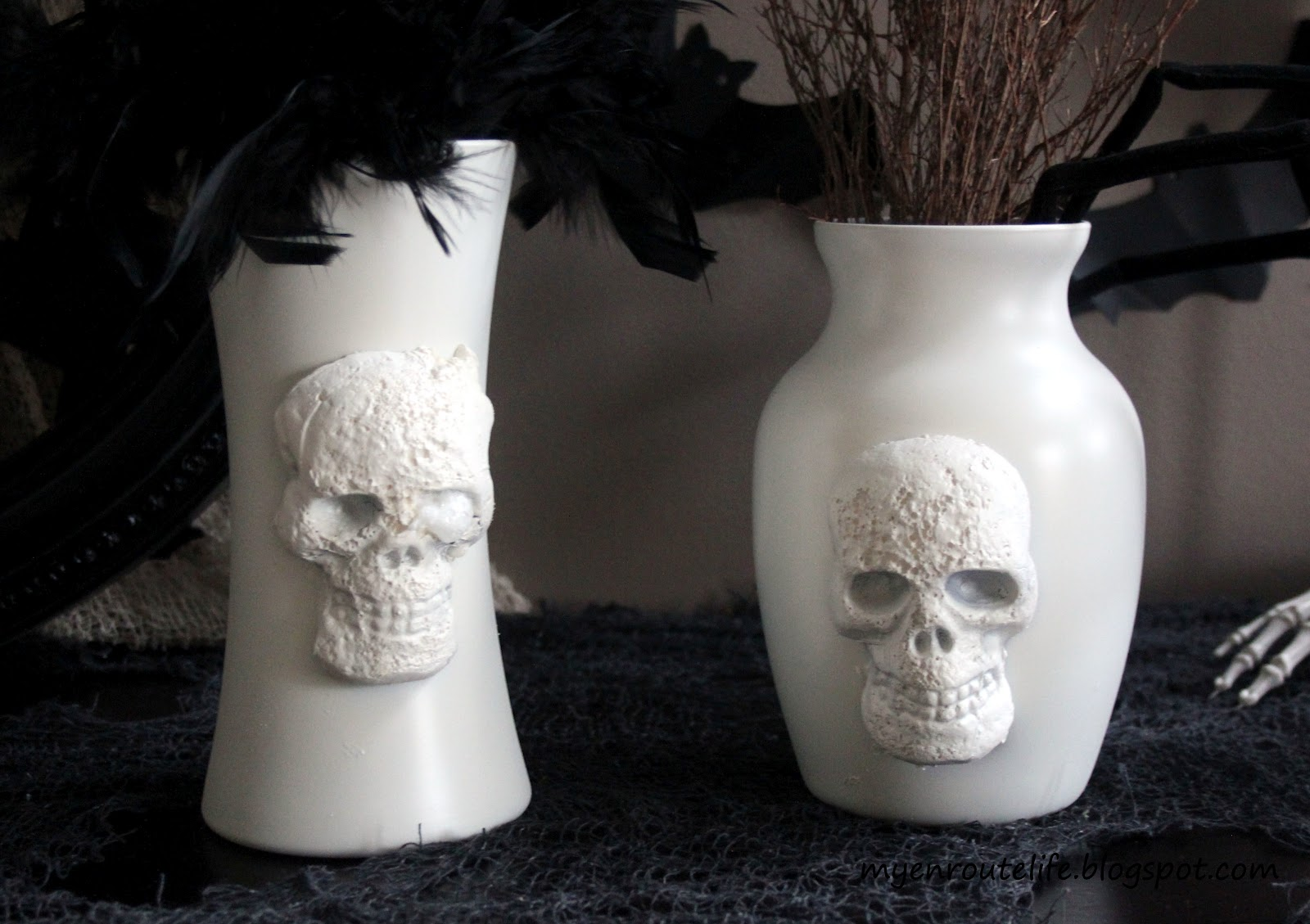 My enroute life how to diy 2 pottery barn skull vases for under 15 love the pb skull vases but not the price are you bummed you missed out on them and theyre no longer available no worries were going to make our own floridaeventfo Images