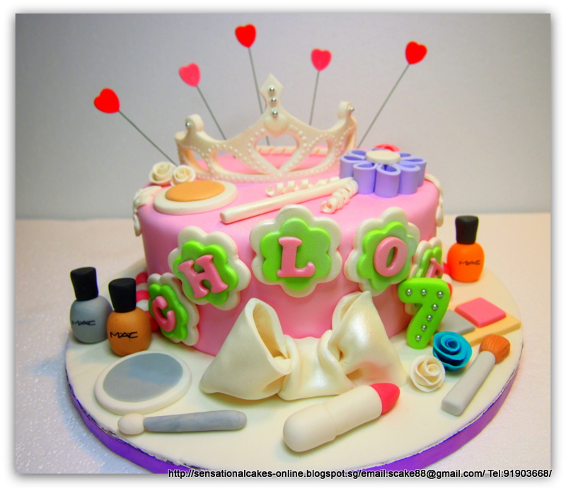 The Sensational Cakes Girly Princess Pink theme cake Singapore