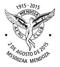 Matasellos del Aero Club Mendoza