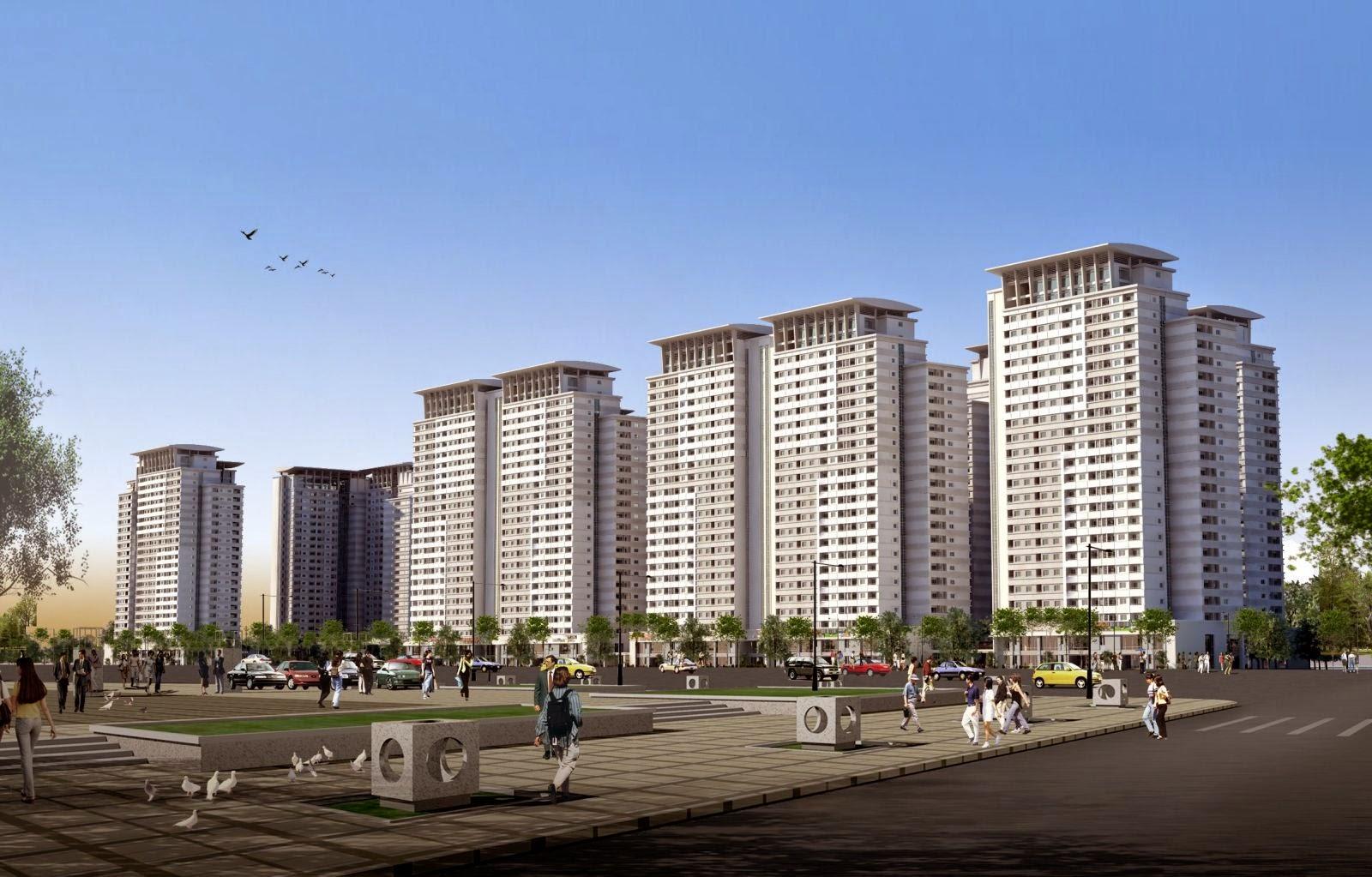 Phối cảnh tiểu khu Park View Residence Dương Nội