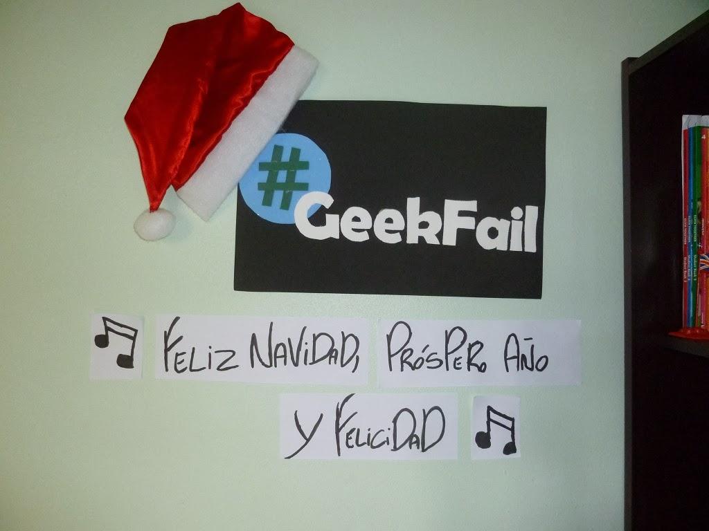 geek fail feliz navidad un prospero ano y felicidad