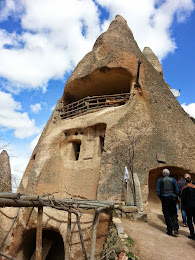 Visited a family where the man was born in this ´Flintstone House´