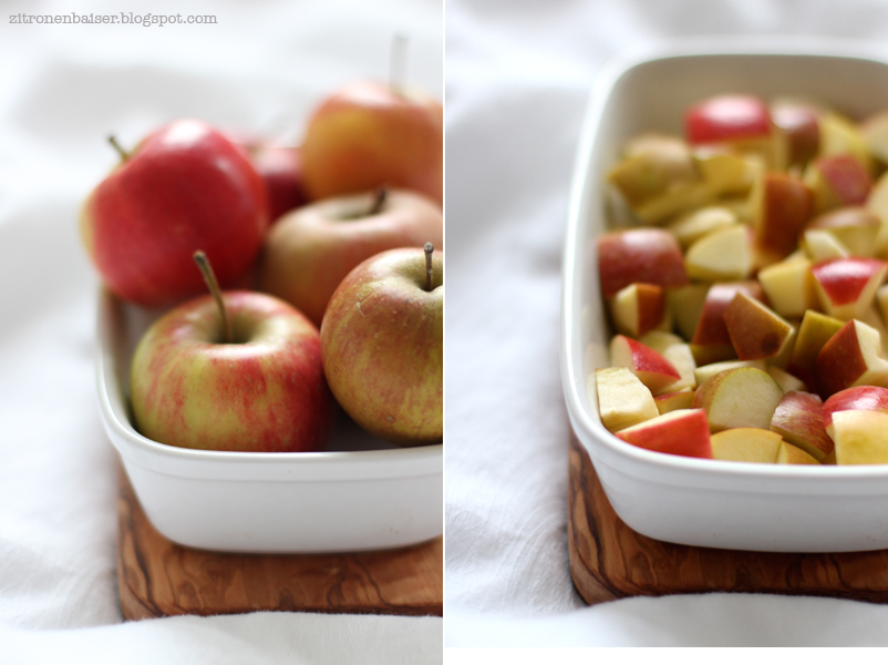 Rezept Apple Crumble Streusel Apfel Zimt lecker