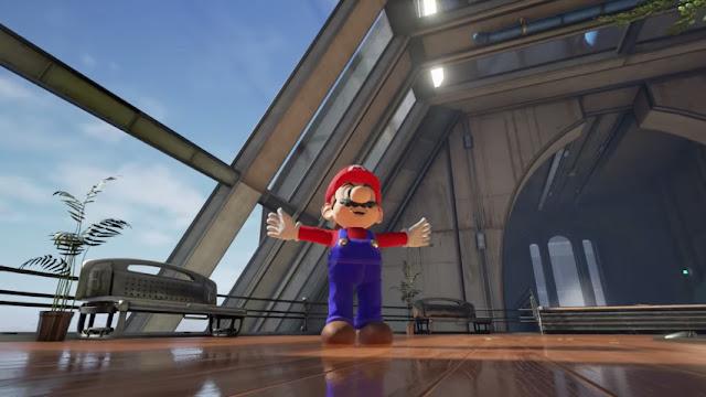 Mario en el motor de unreal 4 se ve totalmente diferente