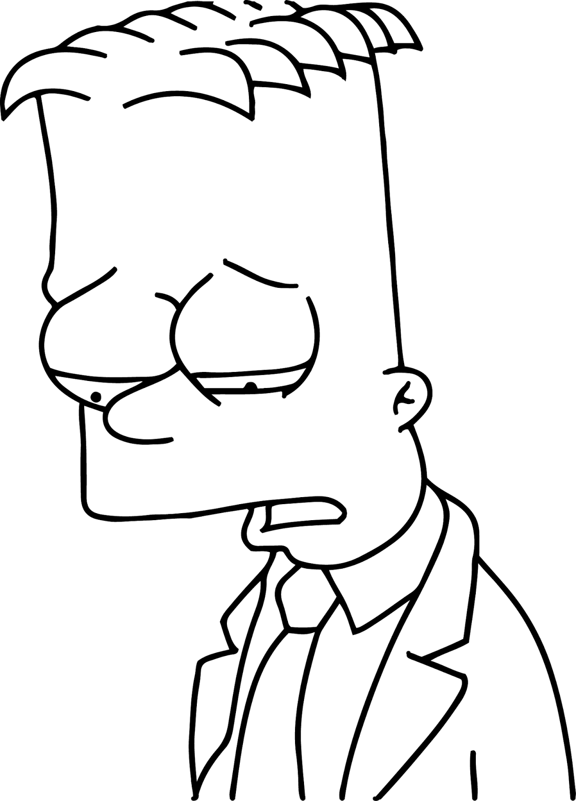 Free Coloring Pages Of Bart Simpsons Bart Color