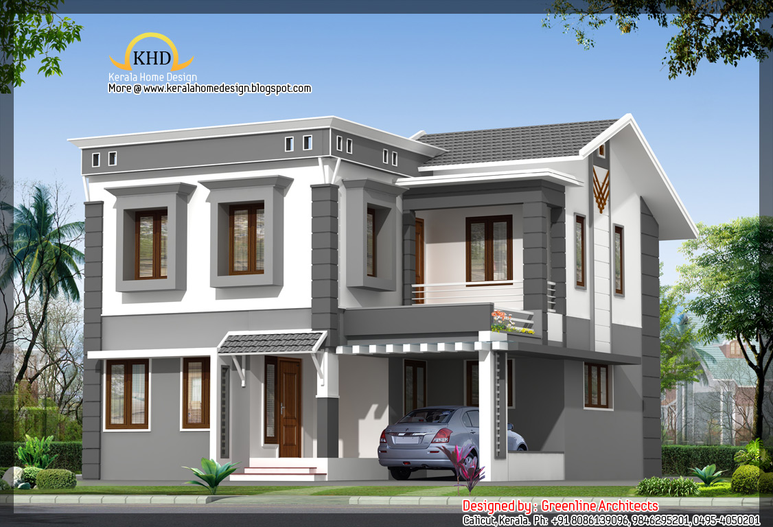Villa plan 1693 sq ft kerala home design and floor plans for Villa plans in kerala