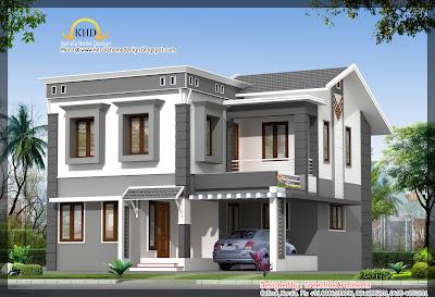 157 square meter (1693 Sqft) Villa Elevation - September 2011