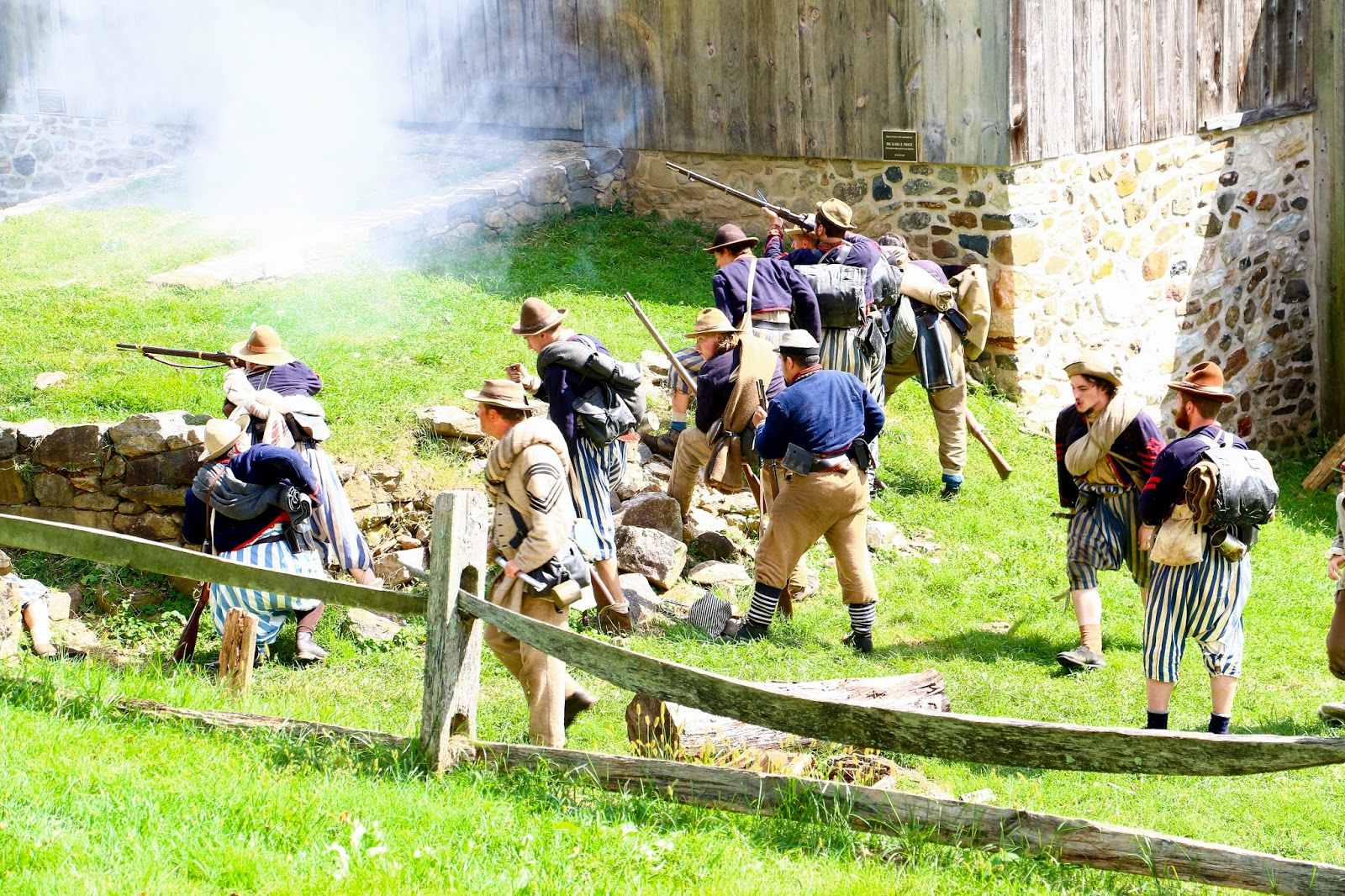 Civil War Reenactors at Colonial Pennsylvania Plantation 2014