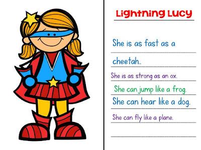 Superhero Similes Figurative Language Fun Sssteaching