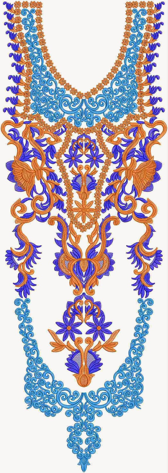 Embdesigntube Vivah Indian Clothing Long Neck Designs