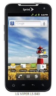 LG Viper LS840,Sprint Viper,LG CDMA mobile,LG Android Smartphone,LG 4G LTE Mobile