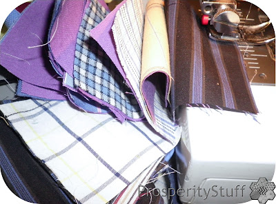 ProsperityStuff: Sewing with dress-shirt fabric