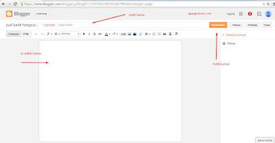 cara membuat dan menampilkan laman atau menu di blog