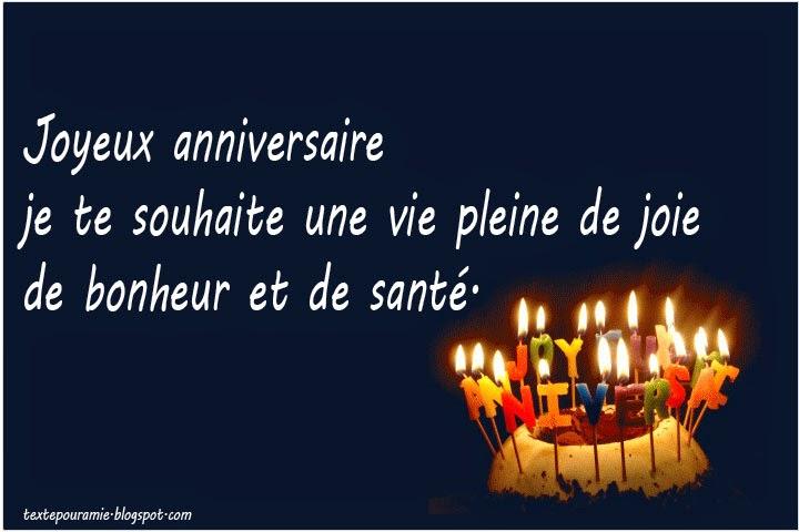 Très Mots d'amour pour son anniversaire - Mot d'amour Phrase d'amour  BR56