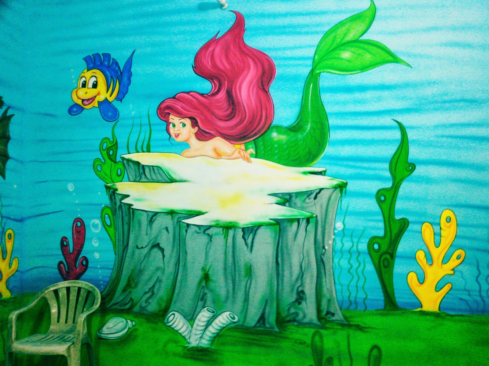 play school wall painting 3d cartoon theme painting ceiling painting kids room painting 3d wall painting - Cartoon Painting For Kids