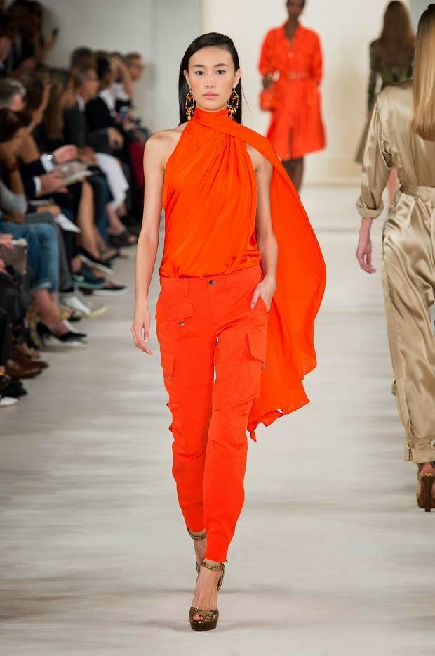 Tendencias moda primavera verano color naranja