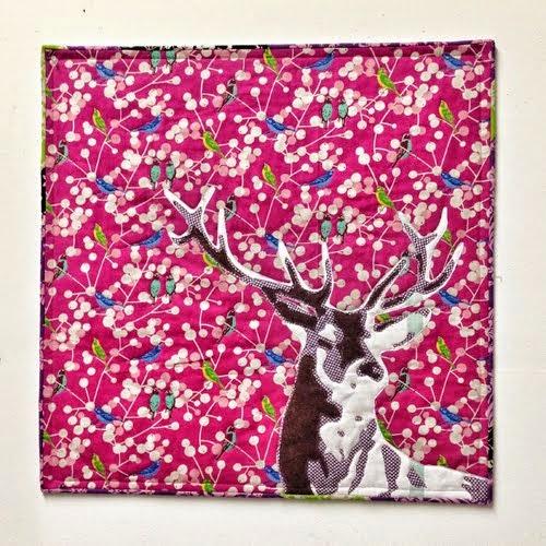 Free pattern: Deer quilt