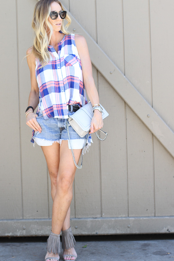 plaid top macys