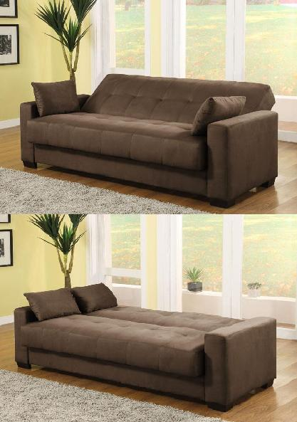 Lifestyle Solutions Napa Convertible Sofa in Java (Sofa-Bed)