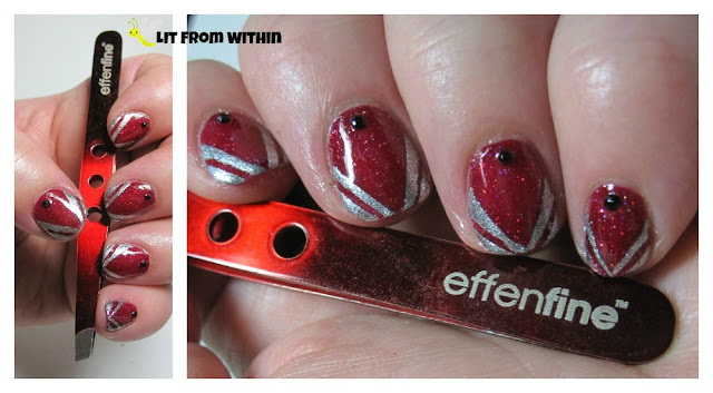 Effenfine Tweezers-inspired nail art