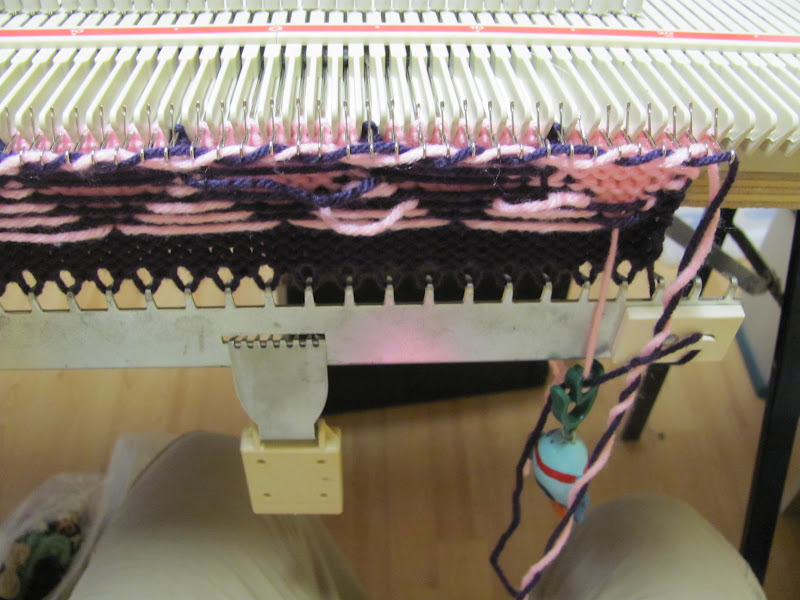Knotty Knits and Naughty Kids: Fair Isle on the LK150