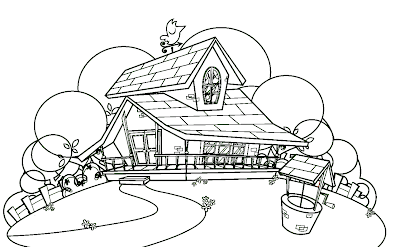 Desenho do Sítio do Picapau amarelo para colorir