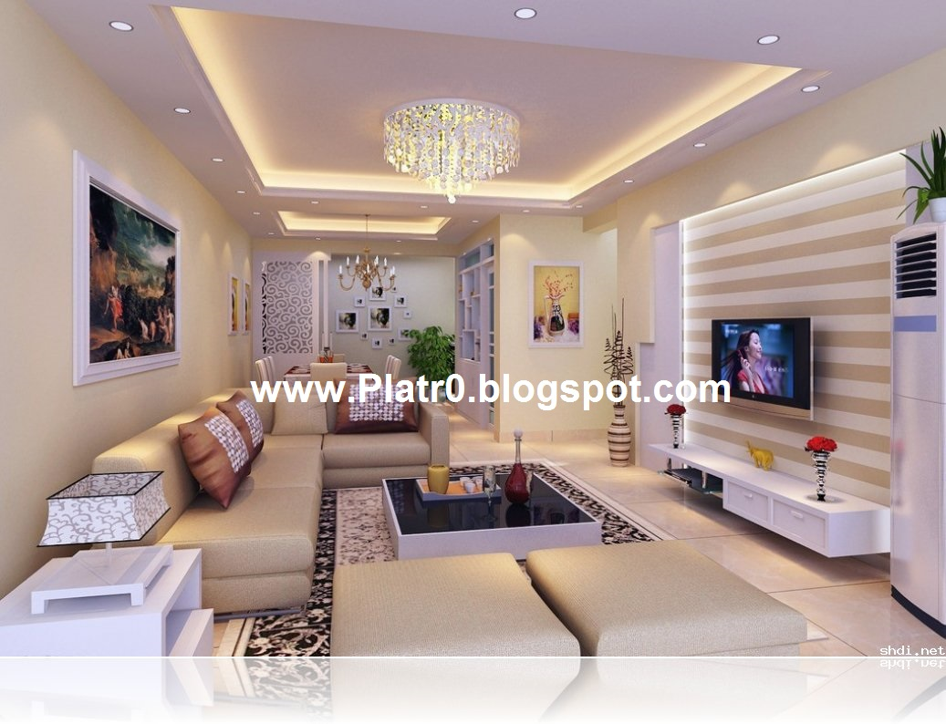 Faux plafond platre contemporain - Decoration des plafonds ...
