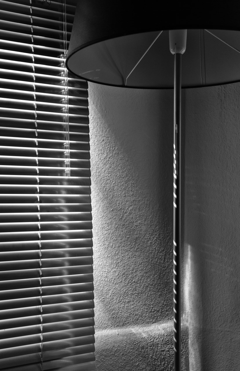 Matthew G. Beall vision driven black and white Photography   Blinds and Lamp    2014