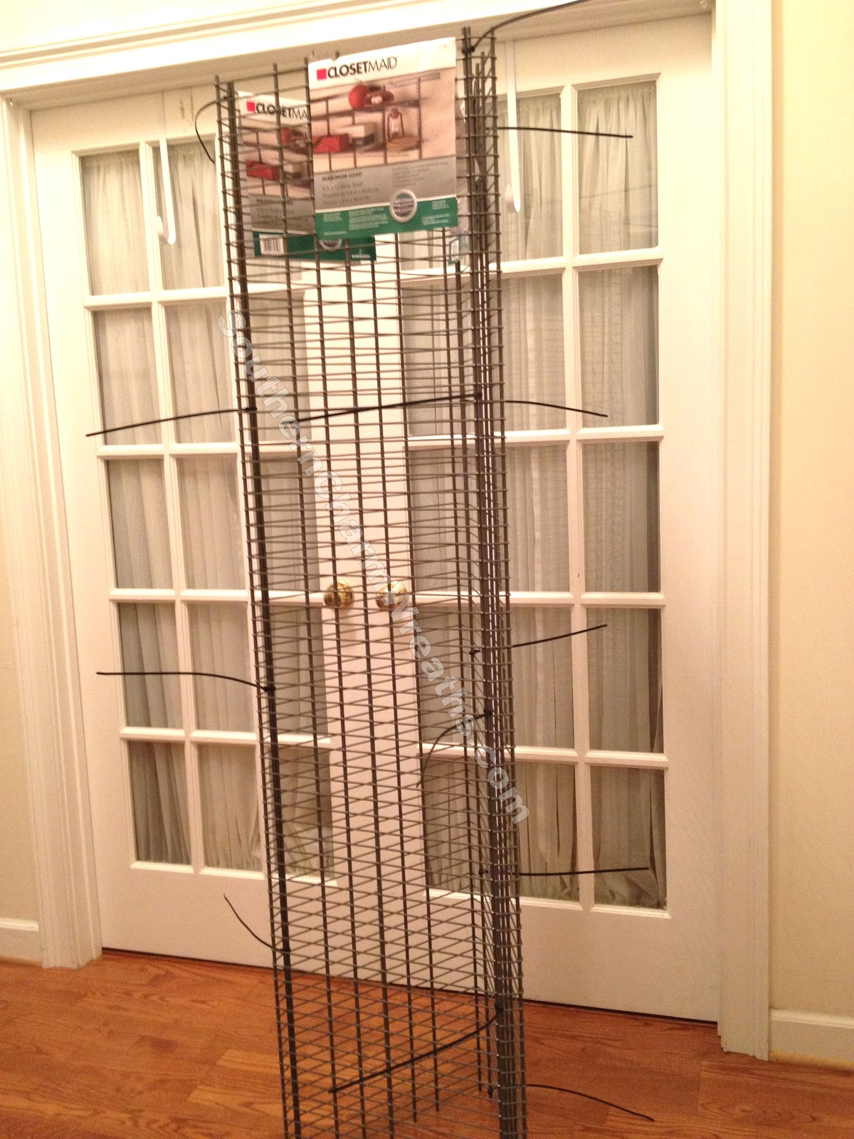 Craft Show Display Racks Wire : How to make a wreath craft show display or storage tower