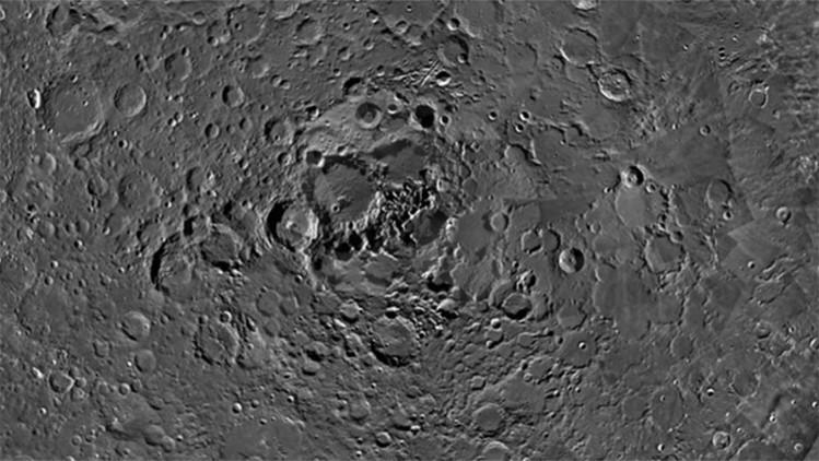 Imágenes del polo norte de la Luna.