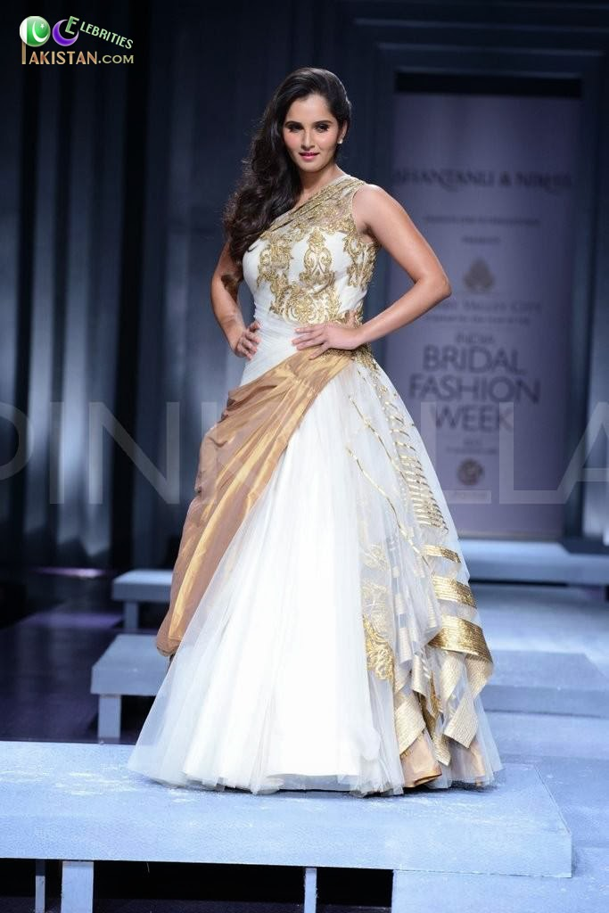 Sania Mirza in Bridal Fashion Week