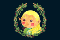 Legolas Cute Illustration by Haidi Shabrina