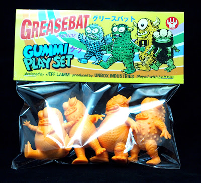 Orange Edition Greasebat & Friends Gummi Play Set by Jeff Lamm & Unbox Industries