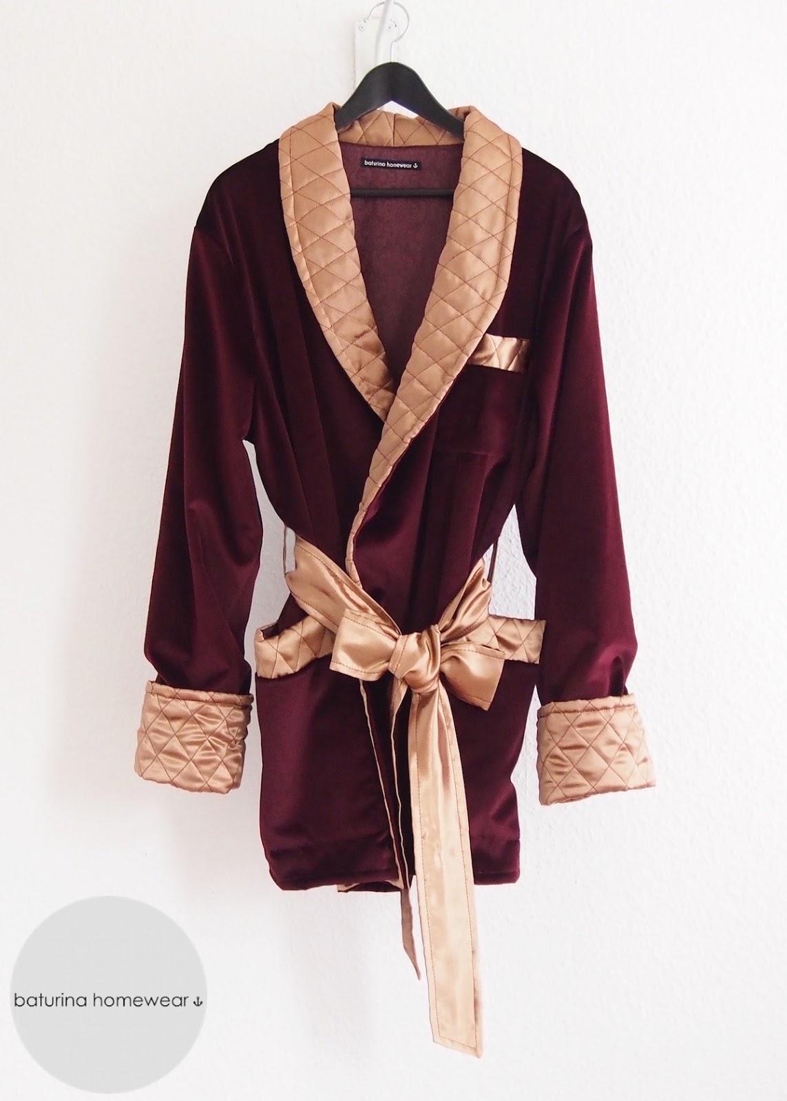 Burgundy Dark Red Velvet & Gold Quilted Silk Smoking Jacket : mens quilted dressing gown - Adamdwight.com